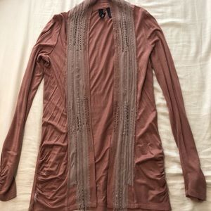 BKE Boutique soft mauve cardigan